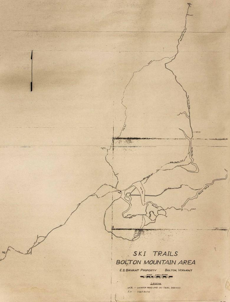 Edward Bryant Ski Trail Map