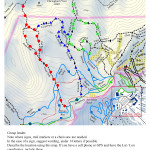 Goat Path, Bypass, Fox Hollow, Eagle Nest, North Ridge, Telemark Map and Instructions